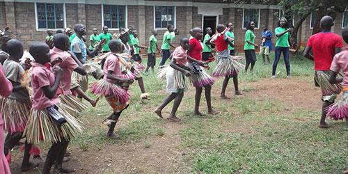 Rural Kenya: Children Dance & Learn the Dangers of FGM