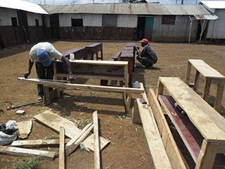Building the new desks