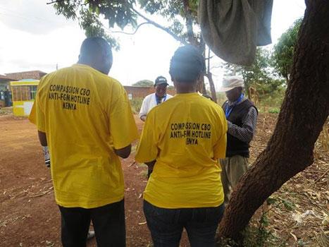 Anti FGM hotline tee shirts