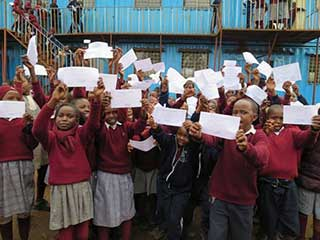 Pupils happy with certificates
