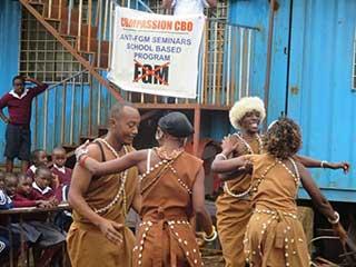 Traditional dancers perform at Heri School